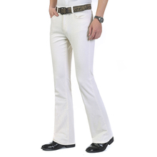 Высокое качество, новинка, мужские весенние вельветовые расклешенные брюки, средняя талия, Умные повседневные брюки, большие размеры 27-38