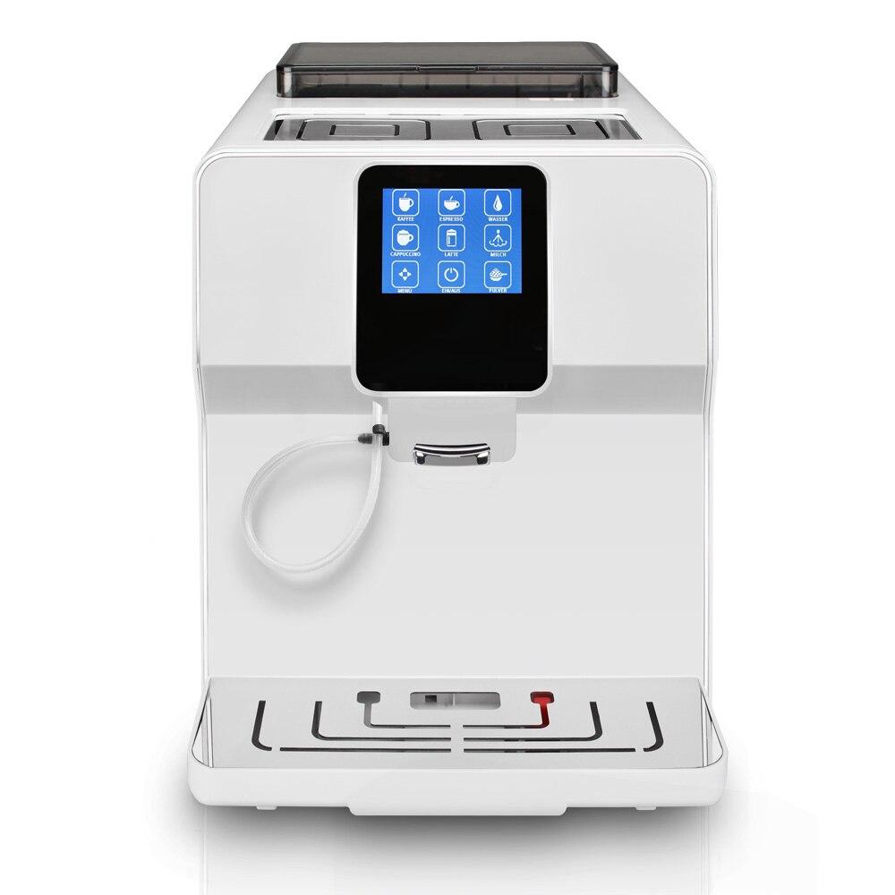 Tela sensível ao toque de 220 v Totalmente automática cappucinno, latte, café espresso/máquina de café/máquina de café comercial e de escritório