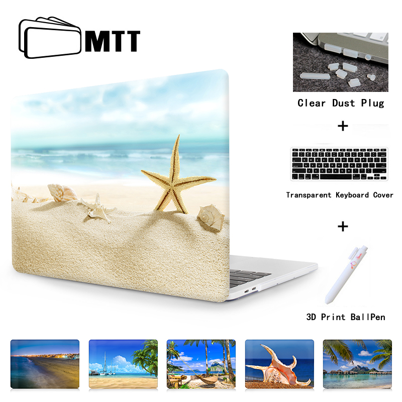 MTT Laptop Case For MacBook Pro 13 15 inch Touch Bar A1706 A1708 A1707 CD ROM A1278 A1286 Air 11 13 A1369 A1465+ Keyboard Cover