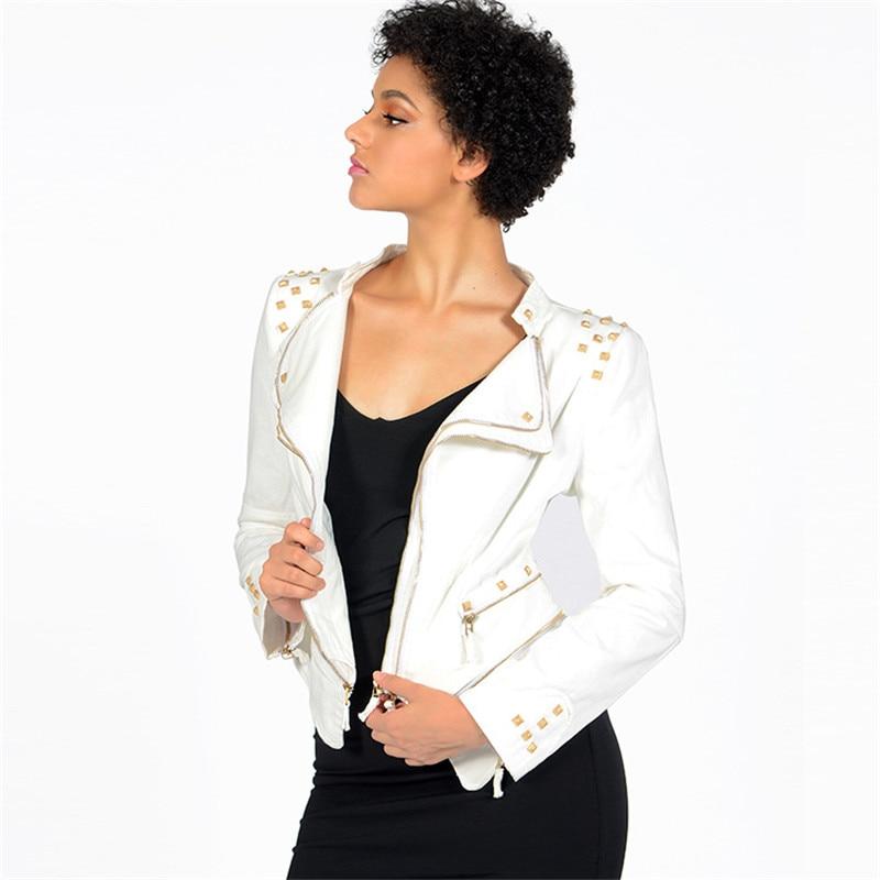 Short Jacket Womens Spring Denim Motorcycle Windbreaker Plus Size 6XL Zipper Tops Diamonds Slim Female Fashion Jeans Coats