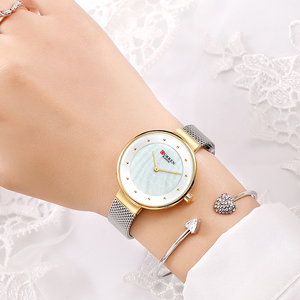 Image 1 - Creative Dialนาฬิกาผู้หญิงนาฬิกาควอตซ์CURRENเหล็กตาข่ายนาฬิกาข้อมือสุภาพสตรีสร้อยข้อมือนาฬิกาผู้หญิงBayan Kol Saati