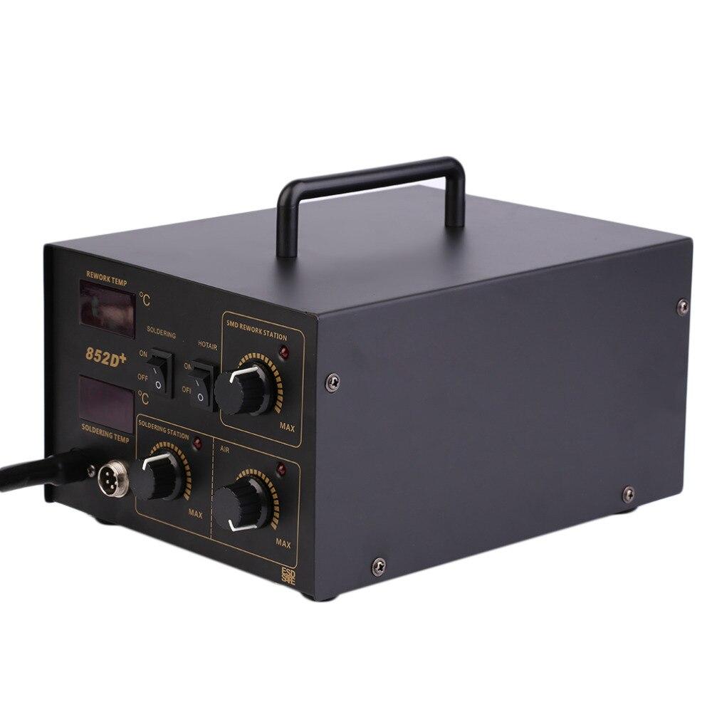 Postes de reprise de soudure 2 en 1 pratiques poste de dessoudage pour pistolet à Air chaud SMD poste de soudage 852D + avec un fonctionnement très satisfaisant 110V