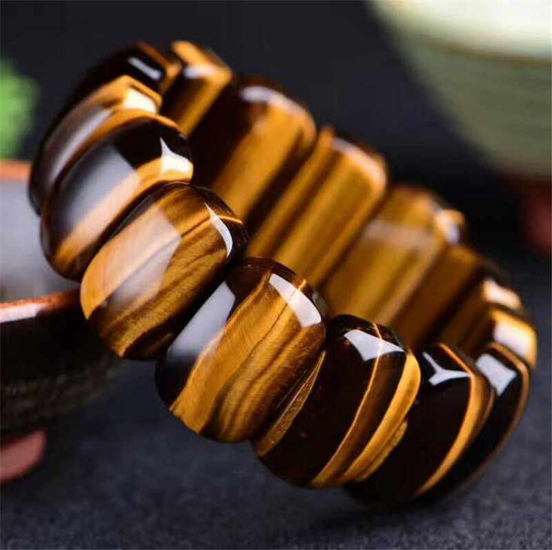 קבל זרוק חינם טבעי huanghu עין אבן יד מחלקת טייגר העין אבן יד מותג זכר שתלטן תכשיטי קריסטל מתנות