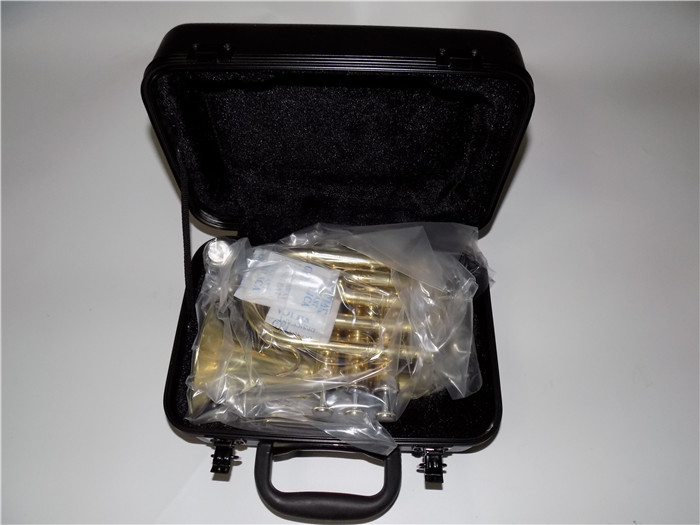 Купить с кэшбэком Bb Pocket trumpets Bell 104mm with ABS case and mouthpiece Musical instruments professional
