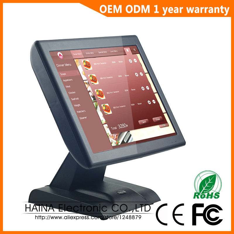 Image 2 - 15 inch with Customer display Touch Screen POS System Electronic Gas Station Cash Register Machine