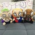 3 unids/lote Funko Pop Comando Suicida Deadshot Joker Harley Quinn Figura Muñeca de la Felpa Juguetes de Los Niños para Los Regalos de Navidad