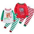 Xmas Natal Conjuntos De Pijama Do Bebê Menino Menina Crianças Pijamas Pijamas Pjs Sleepwear Outfits Set Roupa Terno