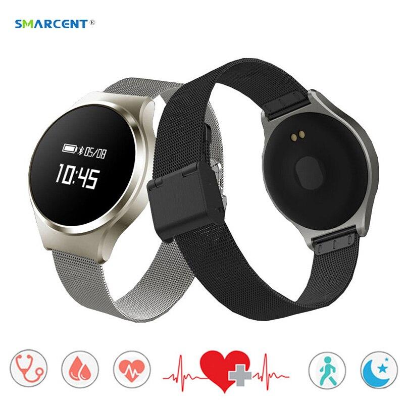 SMARCENT Smart Band Watch Bluetooth 4 0 Smart Wristband Heart Rate Blood Pressure Monitor Smartband Bracelet