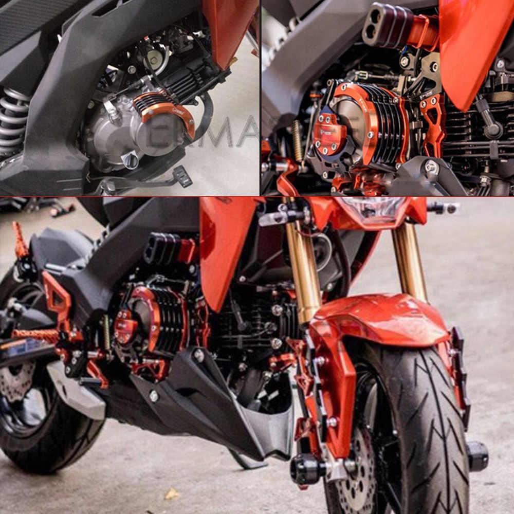 Kits de cubierta de Protector lateral de protección de motor de motocicleta de aluminio CNC para Kawasaki Z125 Z 125 Pro Mini Motor verde azul rojo color naranja o dorado