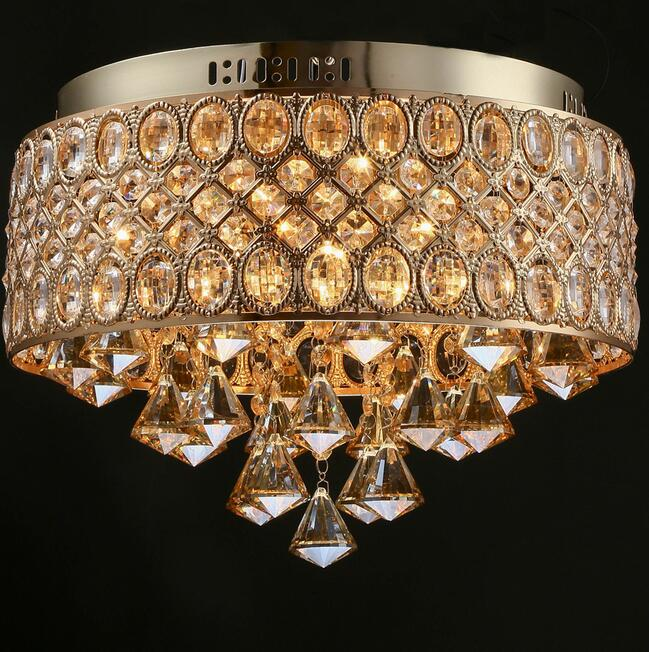 Modern Creative Gold crystal Lights Ceiling lamp Simple LED Lamp for Sitting Room Bedroom the Bar Restaurant Coffee Shop 2017 modern luxury crystal pendant light gold for the restaurant bedroom lights led bulb gold
