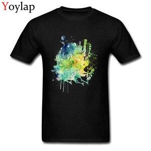 Art Design hauts t-shirts hommes mode t-shirt coton tissu col rond à manches courtes fou été automne vêtements Howl's en mouvement château