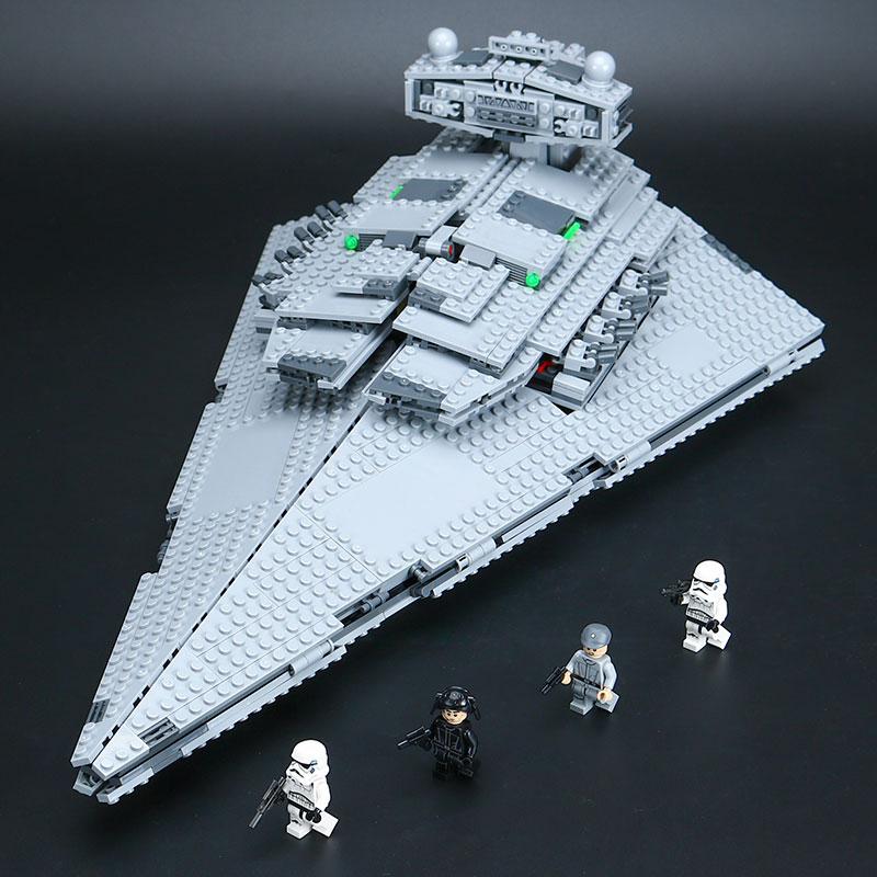 Lepin 05062 Star Series plan legoinglys Super Fighting Destroyer Educational Building Blocks Bricks Compatible Toy Gift 75055