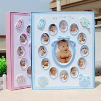 New 8 Inch 6 Inch Baby Photo Album gift birthday present Pictures De Fotografia Children Grow Up Diy Interstitials