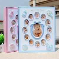 New 8 Inch 6 Inch Baby Photo Album gift birthday present Pictures De Fotografia Children Grow Up Diy Interstitials