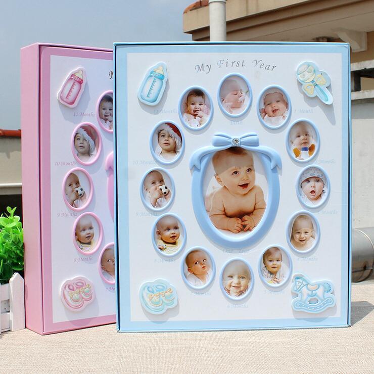 Nova 8 Polegada 6 Polegada Fotografia Da Foto Do Bebê Álbum de Fotos De presente de aniversário presente As Crianças Crescem Diy Interstitials