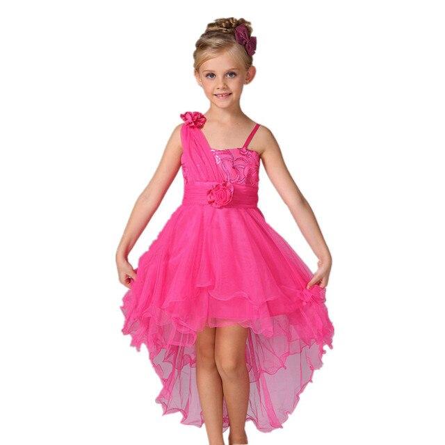 1a53ed55e Niñas vestidos de Fiesta para 2-8 años 2017 Verano Niños de Los Niños de