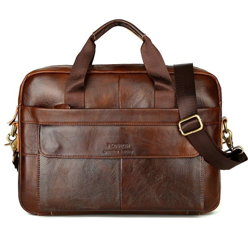 Classique hommes sac à main mallette d'affaires sac pour homme ordinateur portable 14 pouces grands sacs sacs à main porte-documents en cuir véritable homme sac solide