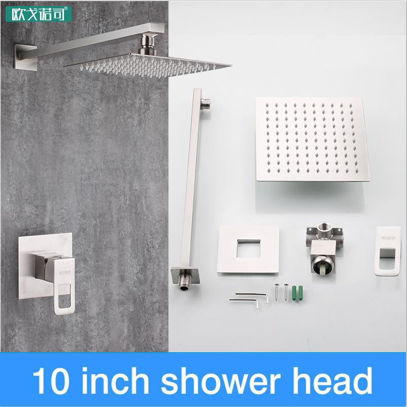 Only ship to Brazil 10 inch shower set wall mounted 304 stainless steelOnly ship to Brazil 10 inch shower set wall mounted 304 stainless steel