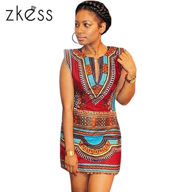 80b9f378a5 ZKESS Summer Womens Night Club Cap Sleeve Tribal Print Mini Dress LC22462  Nigerian Style Short dresses
