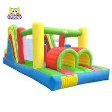 Надувной батут отскакивающий дом барьеры для конного спорта 6,5*2,8*2,4 м большой скользящий надувной замок-батут для детей Лучшая детская вечеринка