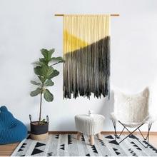 Textiles Para El hogar tejido hecho a mano de Bohemia borla tapices salón canal colgando pintura suave traje colgante colgante de pared mandal