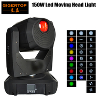 Gigertop 150W LED Moving Head Light Colorful Stage Light Mini Moving Beams For DJ Party Disco