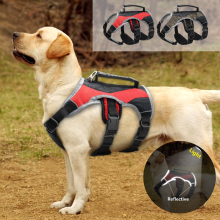 Reflective Dog Harness Large Dogs K9 Halter Harness Pet Mesh Vest With Lift Quick Control Handle For Labrador Husky Walking