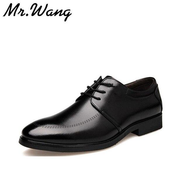 Острым носом моды черные туфли мужские лакированные туфли бизнес свадебные туфли зашнуровать квартиры размер 38-44 AB-07