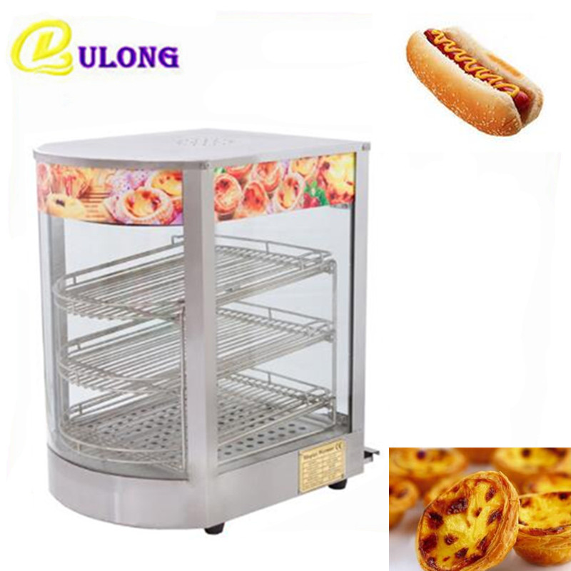 Multifunctional Food Warmer Display Cabinet Small Bread Egg Tart Hot Dog Cake Steamer Hot Display Showcase high quality hot dog display showcase food warmer stainless steel bread sandwich countertop tool