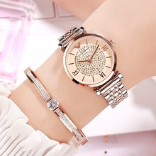 2019 New Business Women Watches Women Rose Gold Dress Watch Stainless Steel Crystal Ladies Watch Woman Quartz Wrist Watches Gift