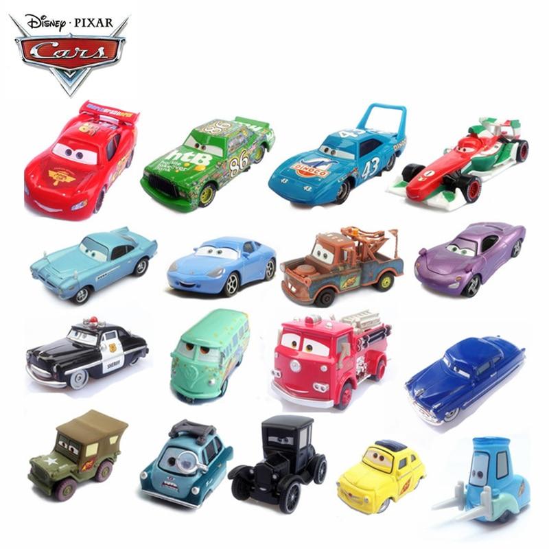 34 Style Disney Pixar Cars 2 3 Lightning McQueen Jackson Coches Cruz Ramirez High Quality 1:55 Diecast Car Toy Model Boy Gift