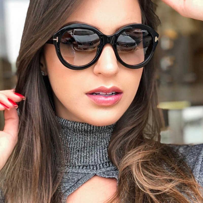 2019 Роскошные Овальные Солнцезащитные очки женские брендовые дизайнерские