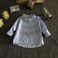 2016 Nova Moda Crianças Adolescentes Menina Das Crianças Da Roupa Do Bebê Partes Superiores Das Meninas Blusas Roupa Dos Miúdos Clássicos Camisa Adolescente Desgaste Camisa