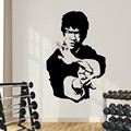 Kung fu star Bruce Lee high-quality vinyl stickers wall sticker Art home decoration bedroom wallpaper murals F-81