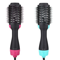 Electric Pro Women Hair Dryer Brush Curling Iron Hair Curler Ions Ceramic Rotating Hairdryer Comb Blow Dryer Hair Styling Tool