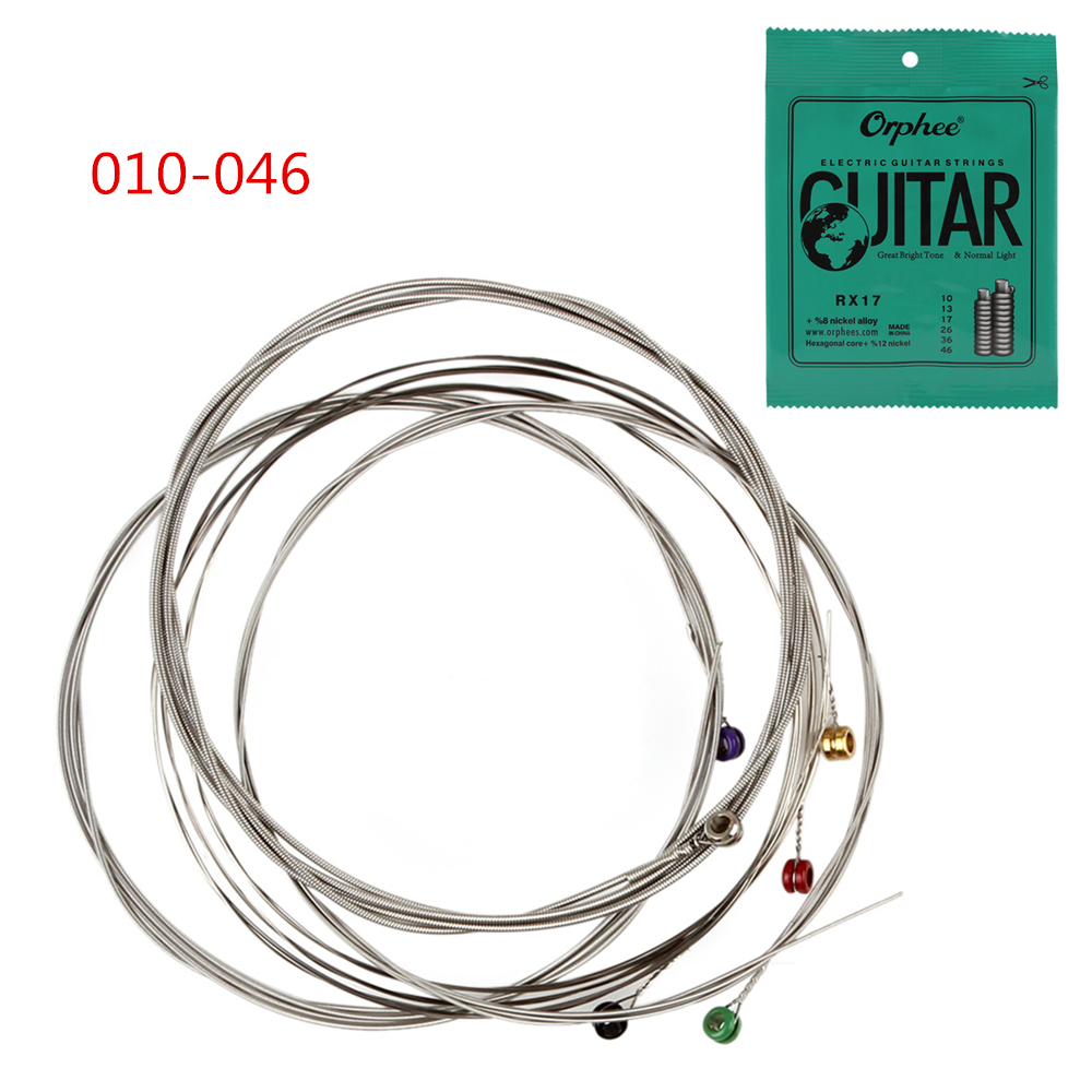 Orphee 6pcs/set Practiced Nickel Plated Steel Guitar Strings For Electric Guitar With Original Retail Package 010-046 010 046 electric guitar strings nickel alloy orphee rx 17