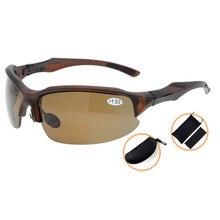 TH6188PGSG Eyekepper TR90 Unbreakable Sports Polycarbonate Polarized Bifocal Sunglasses Half-Rimless Reading Glasses