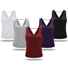 Sexy frauen Yoga Shirts Open Back Tops Ärmellose Sport Hemd Open Back Tank Radfahren Workout Fitness Shirt Lauf Weste(China)