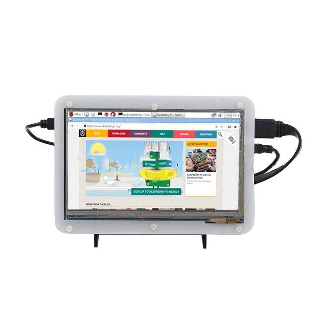 7 Дюймов Акриловая Защитный Корпус для Raspberry Pi 2 3 Емкостный Сенсорный Экран HDMI USB 1024*600 ЖК-ДИСПЛЕЙ IPS дисплей