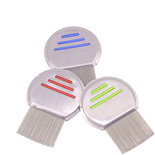 Pet Hair Comb Dog Grooming Combs Steel Small Fine Toothed Pets Flea Comb Puppy Kitten Hair Trimmer Grooming Tool DropShipping smith chu curly hair comb wide toothed comb