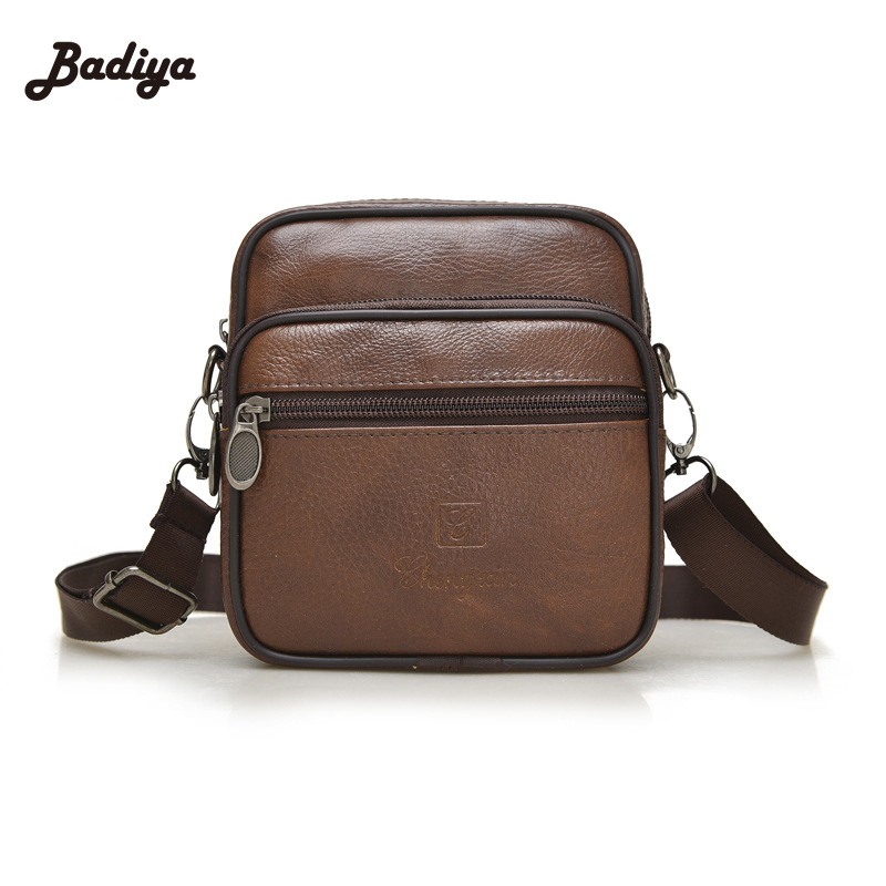 Famous Brand 2016 Cowhide Genuine Leather Bags Casual Men Messenger Bag Business Shoulder New Fashion Handbags