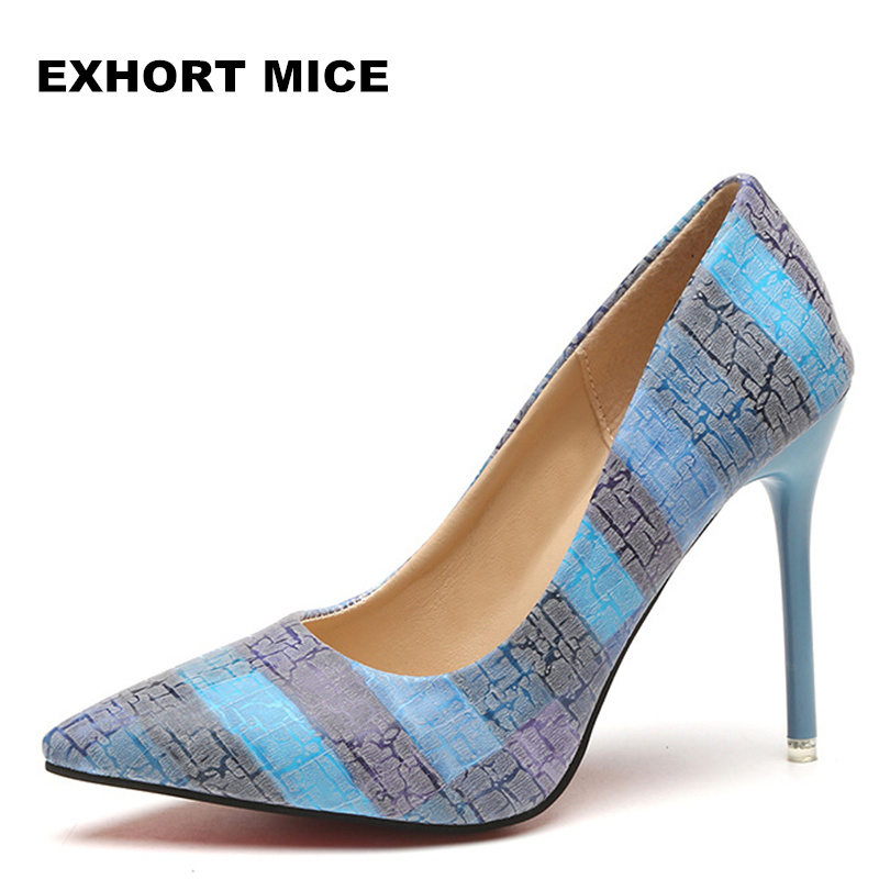 2018 Women Pumps Party Wedding Shoes Super High Heel Pointed Toe Zapatos Mujer Chaussure Femme Talon Brand Ladies Shoes 2018
