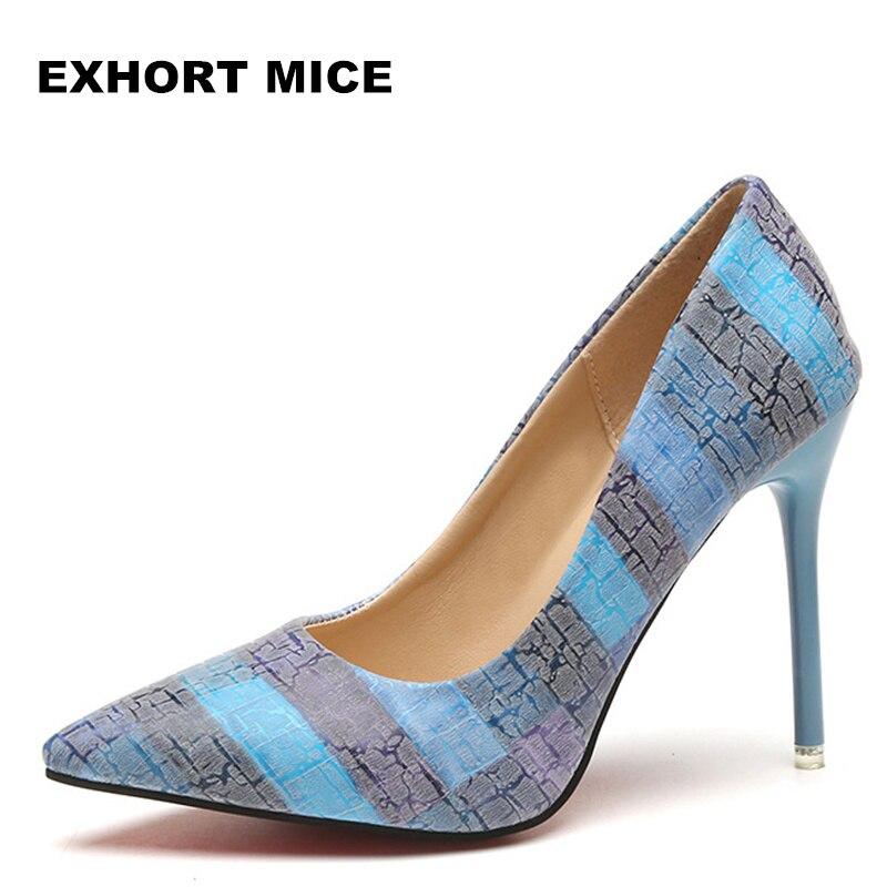 2018 femmes pompes fête mariage chaussures super haut talon bout pointu zapatos mujer chaussure femme talon marque dames chaussures 2018