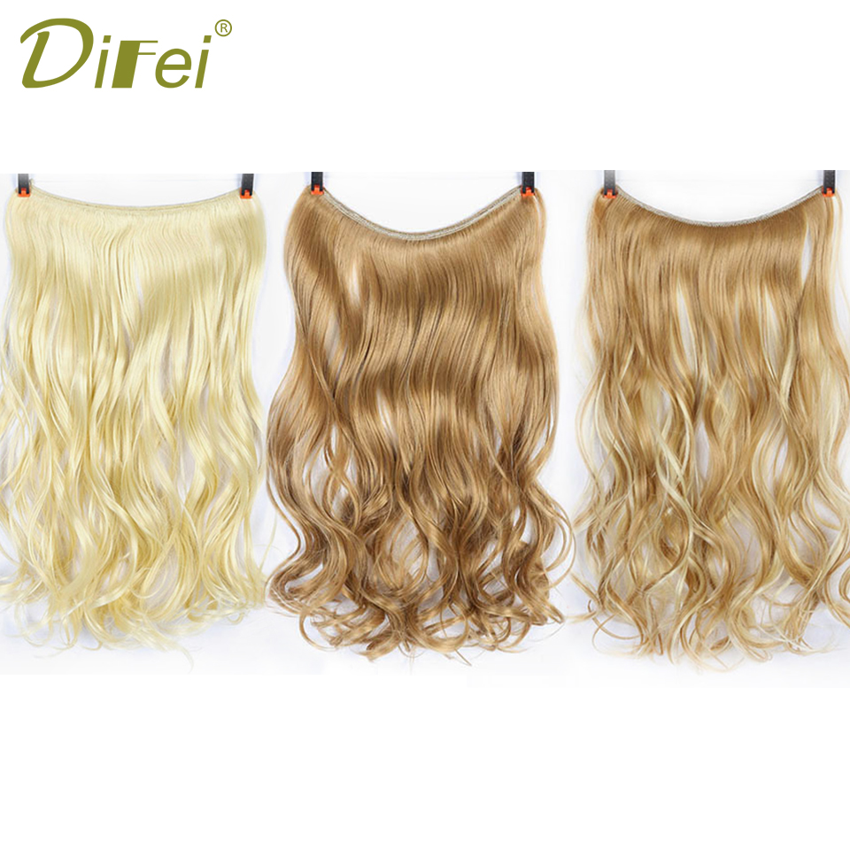 "22"" long wave invisible hair extension"