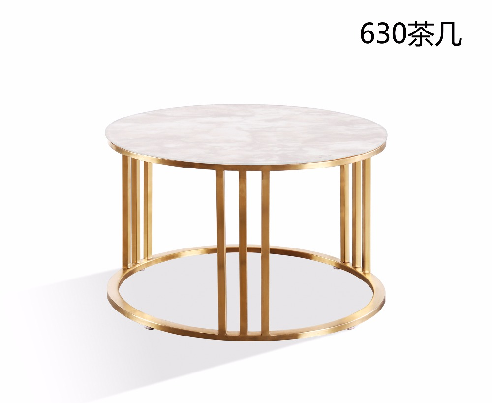 Aliexpress.com : Buy 0608CJ630 Granite Scratch Resistant Frosted Glass  Surface Stainless Steel Frame Combination Round Tea Table Coffee Table From  Reliable ...