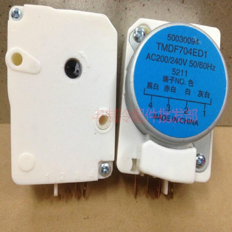 Refrigerator Defrost Timer TMDF704ED1 AC200/240V 50/60Hz Defrosting timer Refrigerator Parts 2pcs lot for double door refrigerator defrosting temperature sensor 5k defrosting insurance 45cm