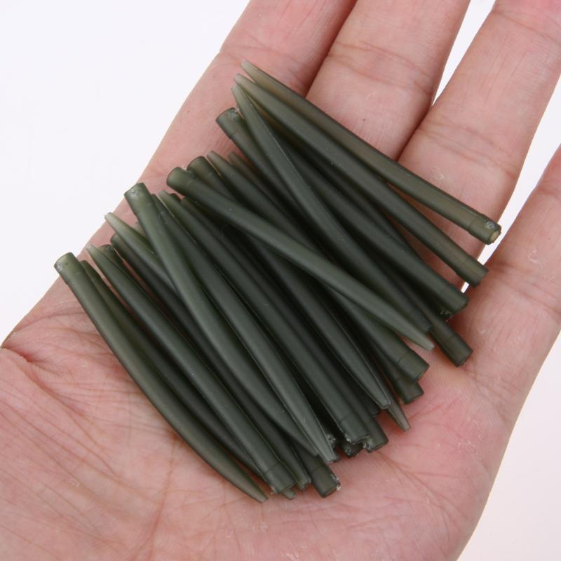 100pcs Terminal Carp Fishing Anti Tangle Sleeves Connect With Fishing Hook Rubber Tip Tube Positioner Terminal Fish Tackle Pesca