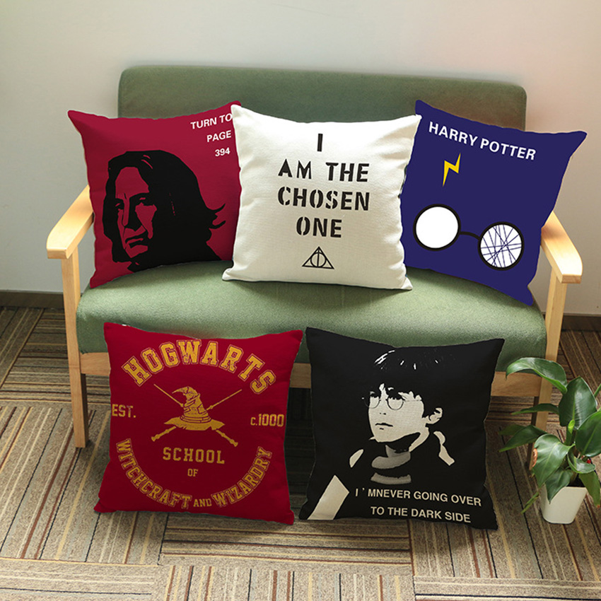 Harry Potter Hogwarts School Red Snape Home Decoration Sofa Throw Pillow Cover Classic Quotation Letter Print Cushion Cover case