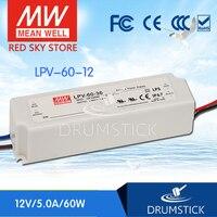 Redsky Freeshipping12 MEAN WELL Original LPV 60 12 12V 5A Meanwell LPV 60 60W Single Output
