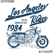 ZOTOONE  embroidery patches for clothing iron on transfer Bicycle alphabet patch diy clothes
